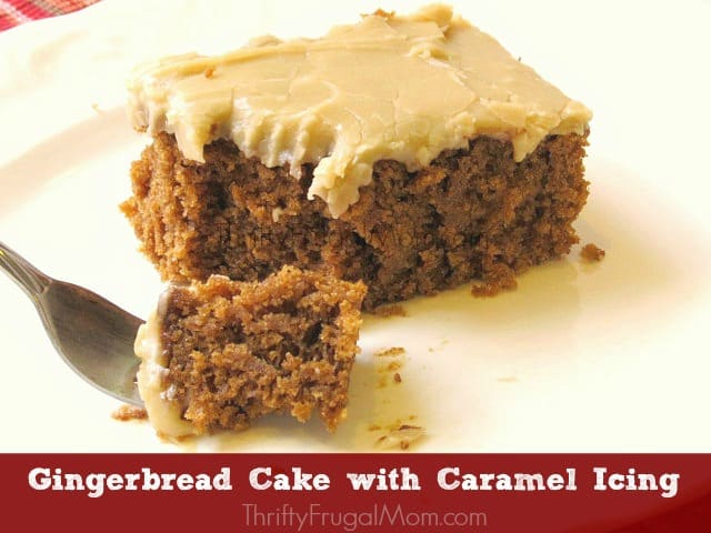 Gingerbread Cake with Caramel Icing
