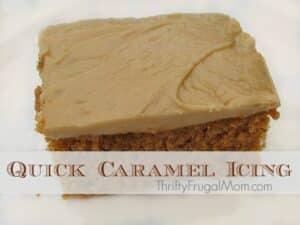 Easy Caramel Icing