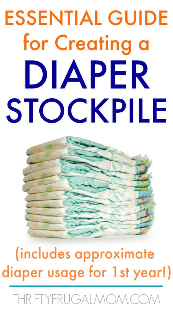 a stack of diapers with the words essential guide for creating a diaper stockpile