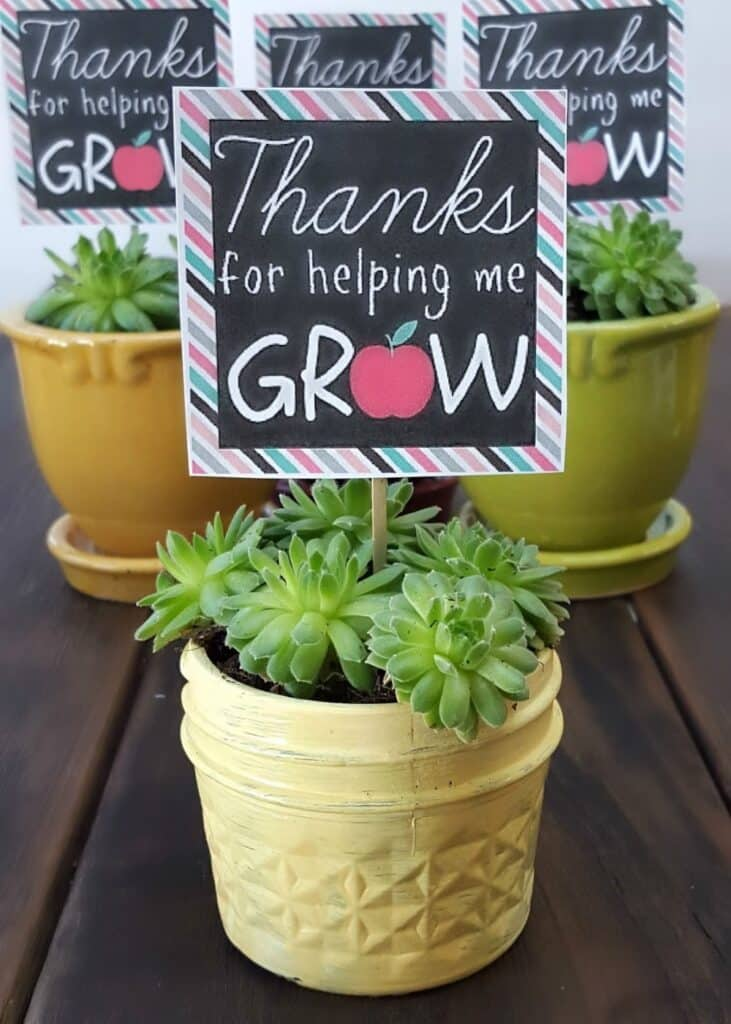 Help me grow teacher appreciation gift