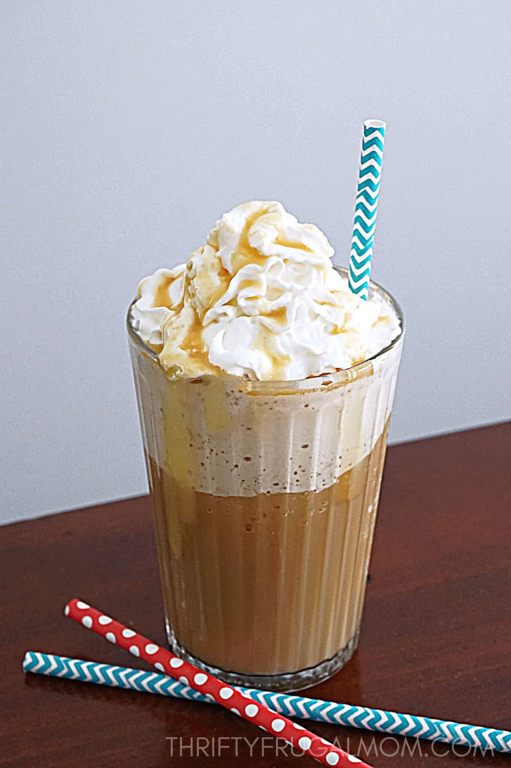 Easy Homemade Caramel Frappe Recipe Thrifty Frugal Mom