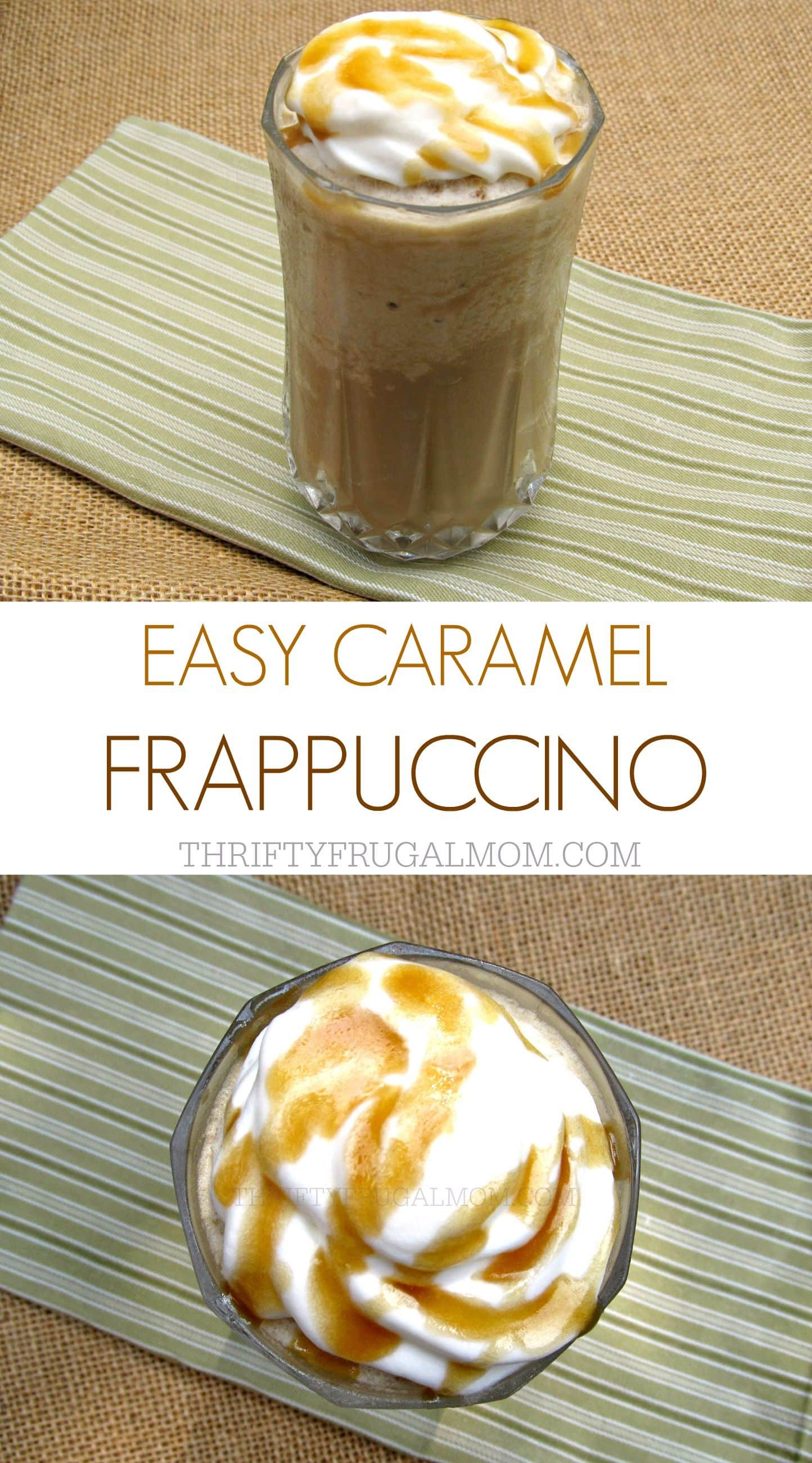 Make a homemade caramel frappe with this delicious, easy recipe. Not only will it save you money, it's also a great way to use up leftover coffee!