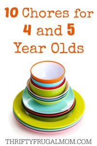 10 Chores for 4 & 5 Year Olds
