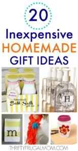 20 Inexpensive Homemade Gift Ideas