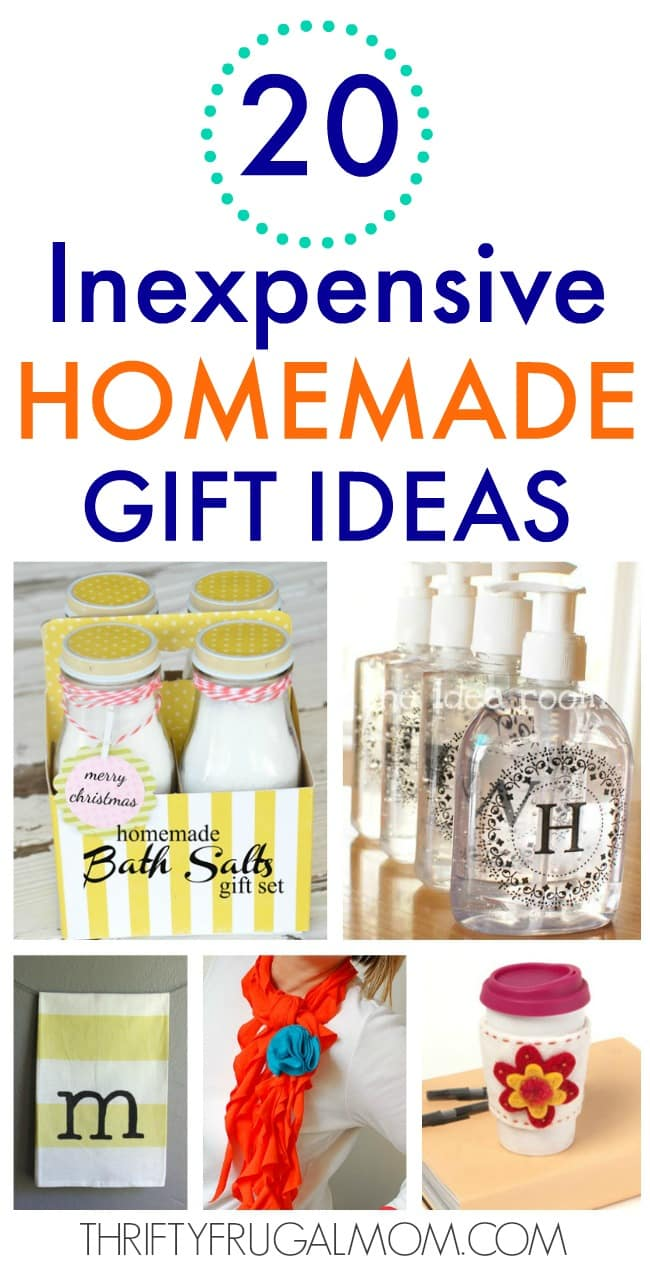 20 Inexpensive Homemade Gift Ideas Thrifty Frugal Mom