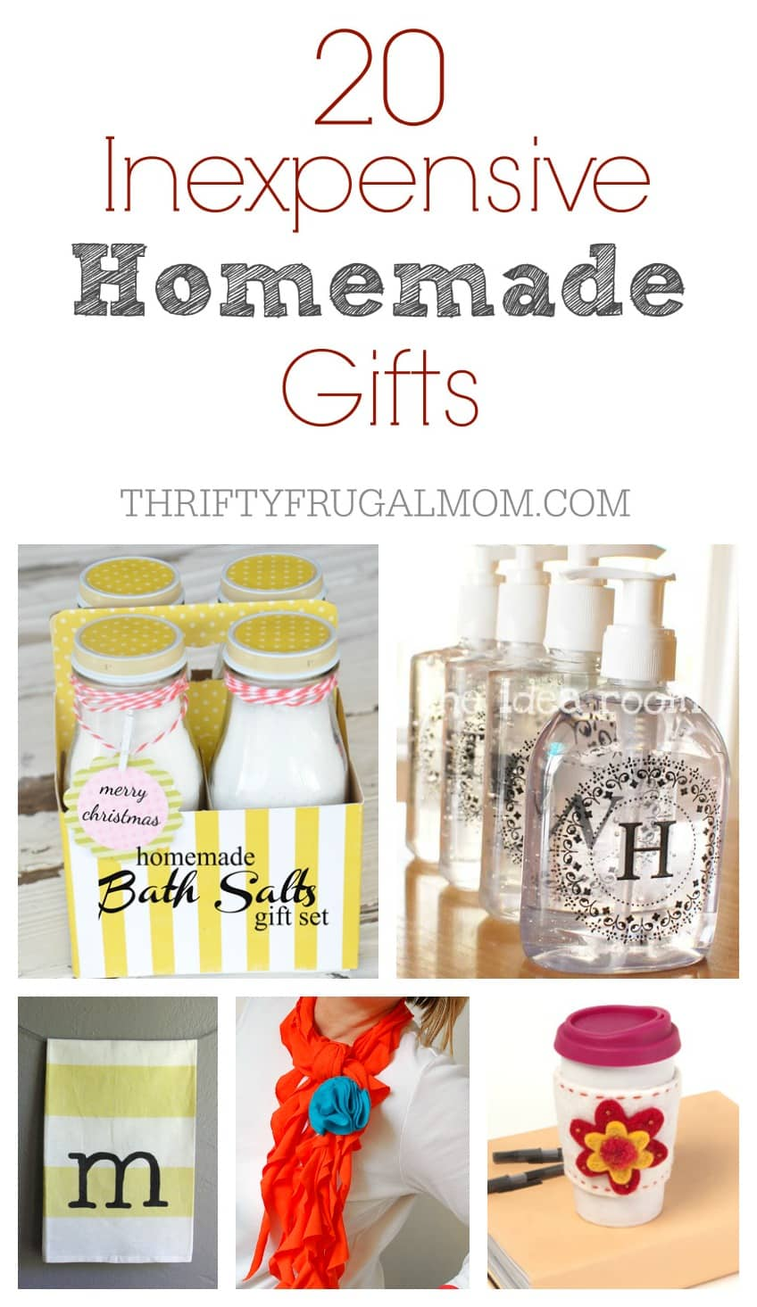 Inexpensive homemade gift ideas