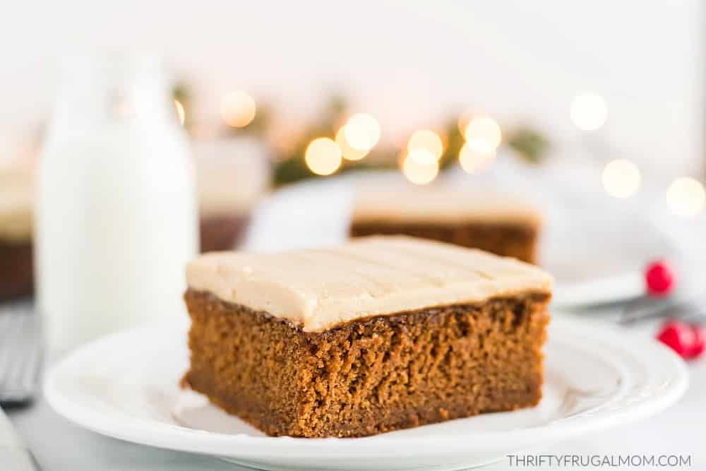 Super Moist Gingerbread Cake with Caramel Frosting