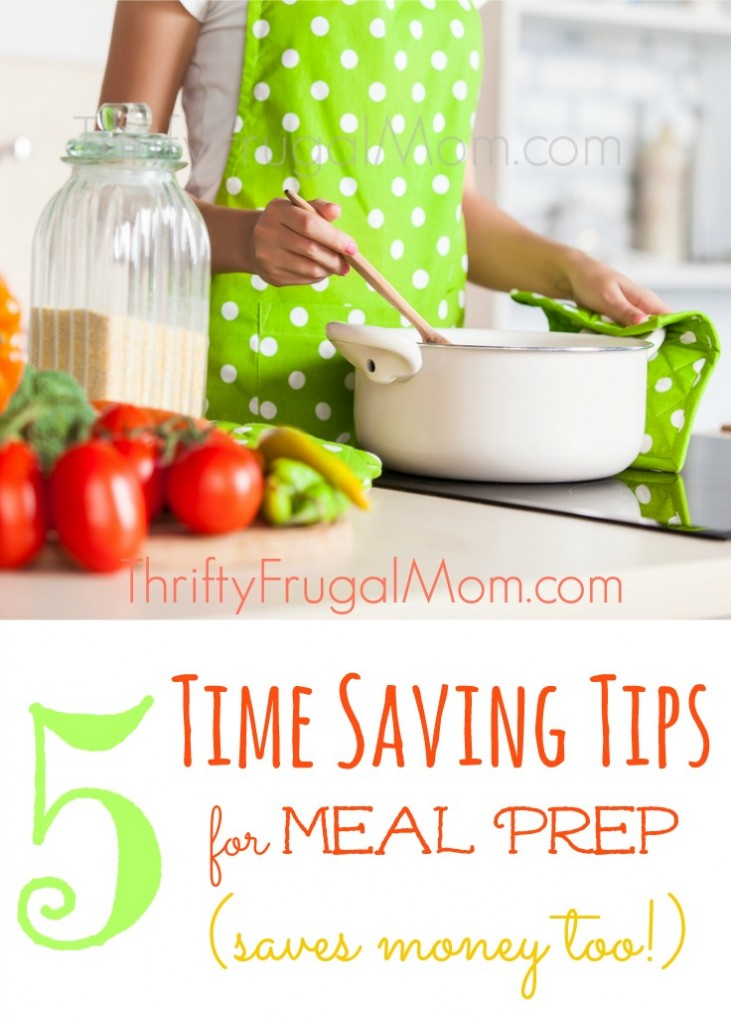 Ever wish that making from-scratch meals at home didn't take so much time? Yeah, me too! Try these easy time saving tips and you'll save money at the same time!