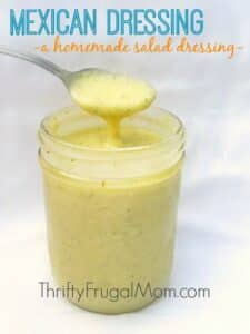 Mexican Dressing (a simple homemade salad dressing)