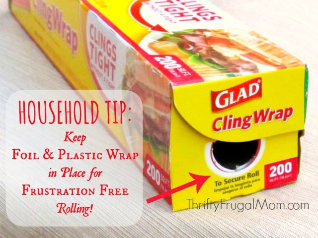 Tired of your plastic wrap rolling out of the box when you try to use it? This simple kitchen tip will end that annoying problem and make your life just a little bit easier!