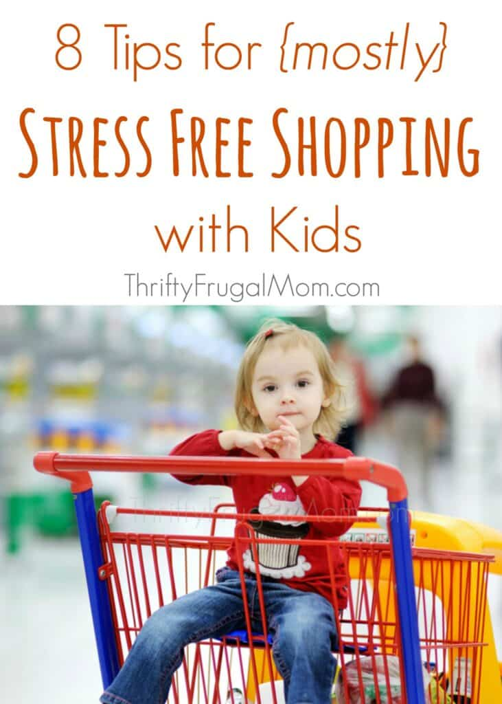 Tired of stressful shopping trips with the kids in tow? These tried & true tips from a mom of 3 will help make shopping with your kids easy and manageable!
