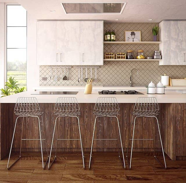 a beautiful uncluttered white kitchen