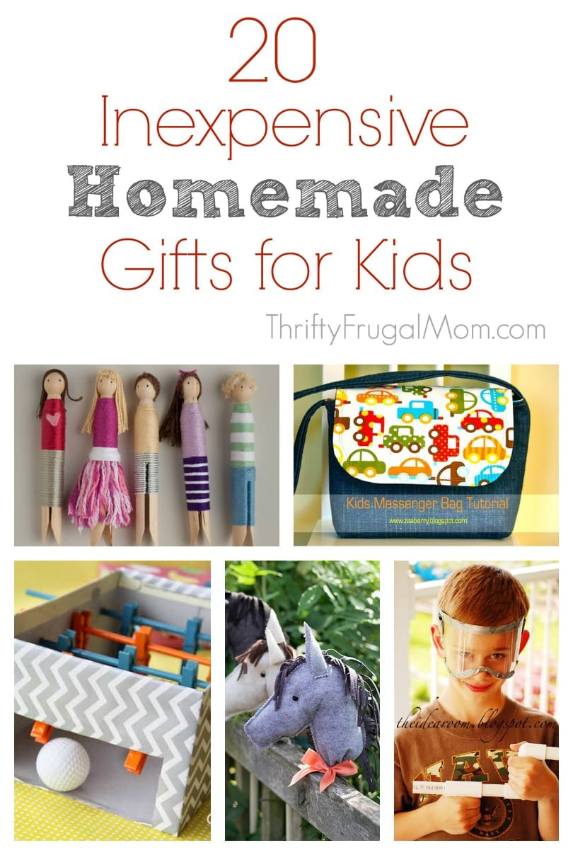 20 inexpensive homemade gifts for kids for Easy diy gifts for boys