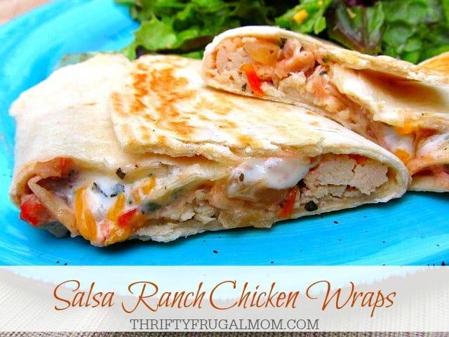 Salsa Ranch Chicken Wraps