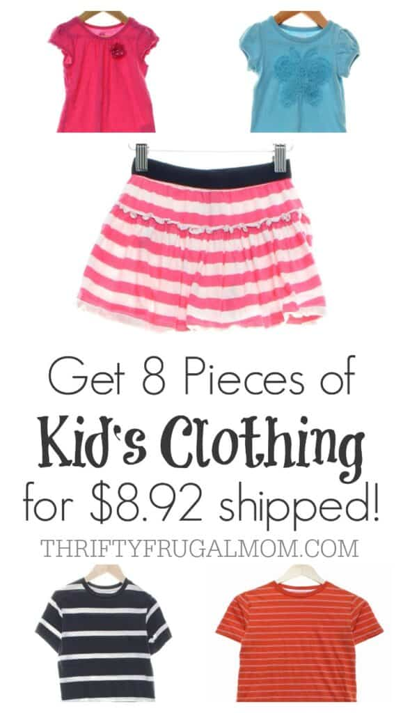 There's no need to pay full price for kid's clothing!  This is a great way to save money and you even get to do it from the comfort of your own home!  :)