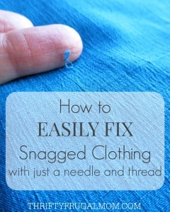 How to Easily Fix Snagged Clothing