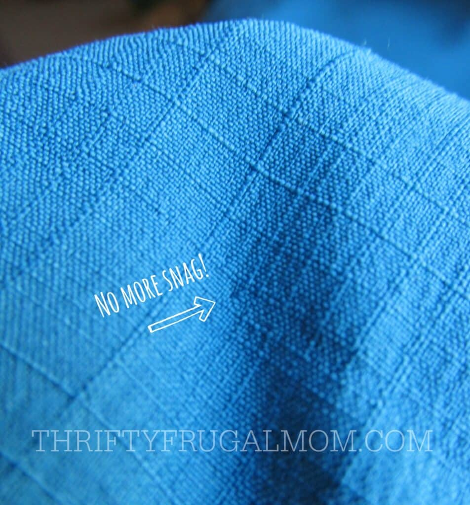 snagged thread- how to fix