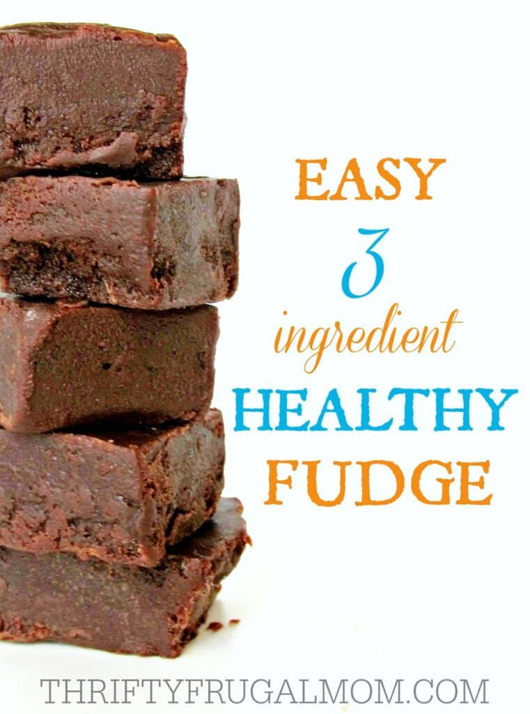 Healthy Fudge 3 ingredient- a frugal, easy recipe
