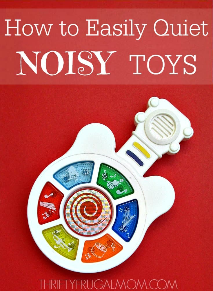 Tired of noisy toys? This simple little trick will quickly make them 50% quieter, allowing your kids to enjoy their toys without driving you crazy!