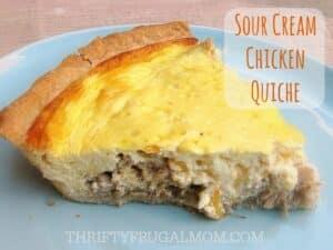 Sour Cream Chicken Quiche