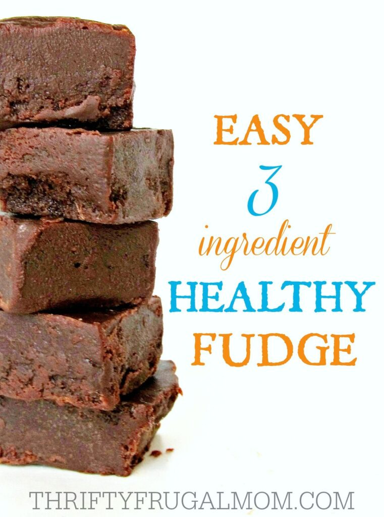 3 ingredient healthy fudge