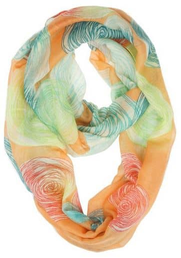 Airy Circles Scarf under $10