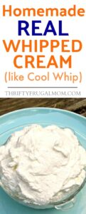 Easy Homemade Whipped Cream (homemade Cool Whip)