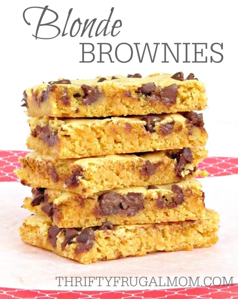 Blonde Brownie Recipe