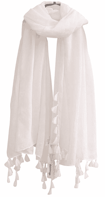 cheap lightweight scarf with tassels