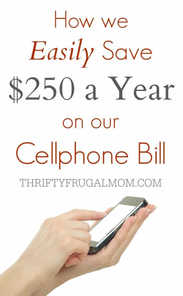 Tired of spending so much money on your cellphone bill? This is how we easily save at least $250 a year on our cellphone bill!
