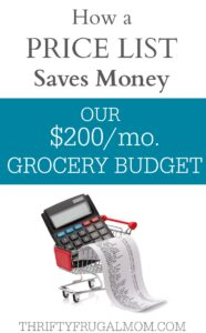 Our $200 Grocery Budget: How a Price List Saves Money