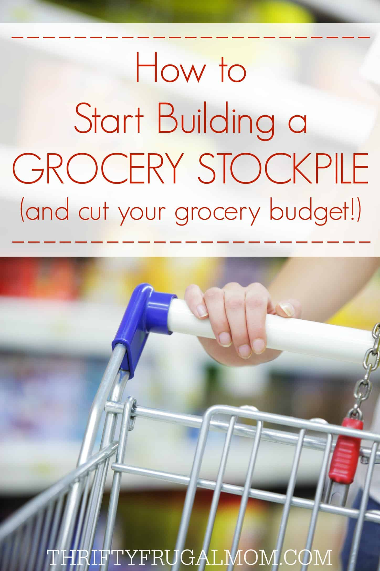 Learn how to stockpile food on a budget! Stockpiling allows us to have a $200/mo. grocery budget and can save you money too! These tips will help you get started with your own stockpile.