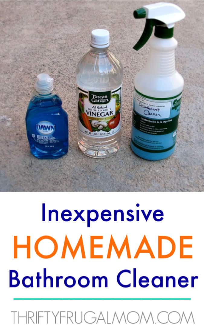 Inexpensive Diy Homemade Bathroom Cleaner
