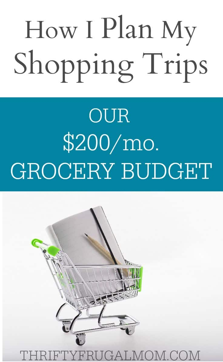 Want to know how to grocery shop with coupons to save lots of money? Here's how I plan my shopping trips for our $200/mo. grocery budget. You'll be surprised at how simple it is!