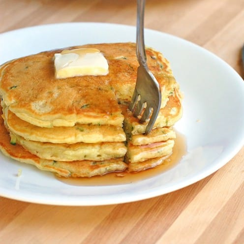 Sweet-Zucchini-Pancakes-with-Butter-and-Fork