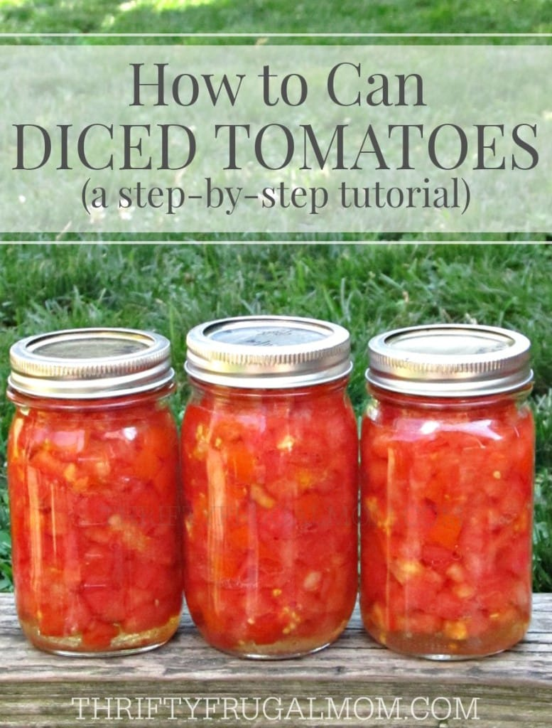 A step-by-step photo tutorial on how to can diced tomatoes. It's super easy, plus if you grow your own tomatoes, it's a big money saver too!