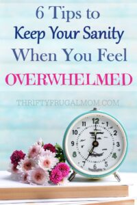 6 Tips to Keep Your Sanity when You Feel Overwhelmed