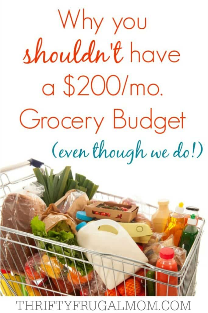 Why You Shouldn't have a $200 Grocery Budget