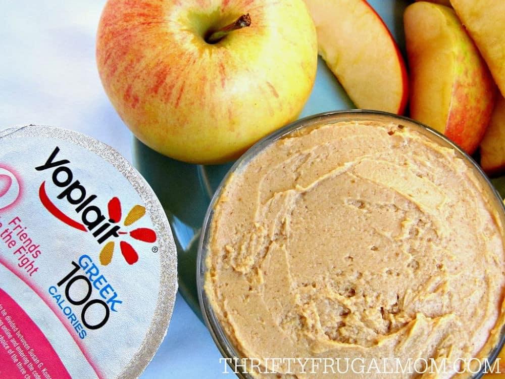 dip for fruits- made with Greek Yogurt