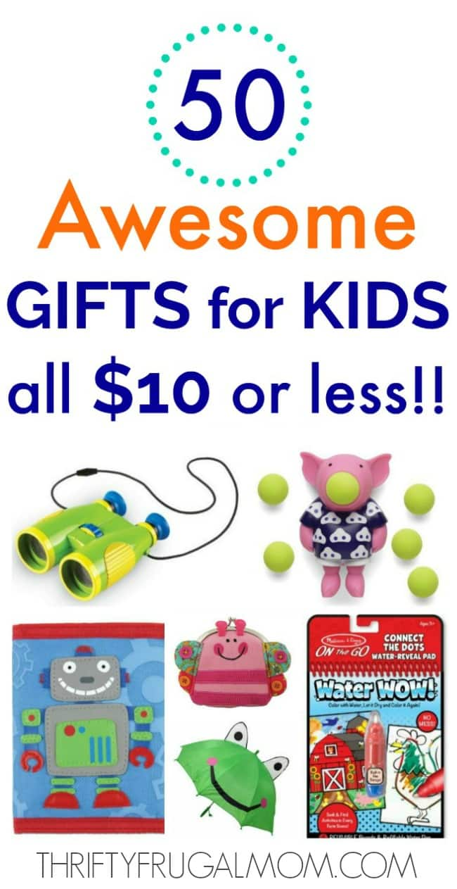 cheap gifts for kids 10 or less