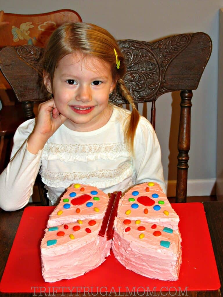 Easy Butterfly Cake perfect for birthdays or summer parties