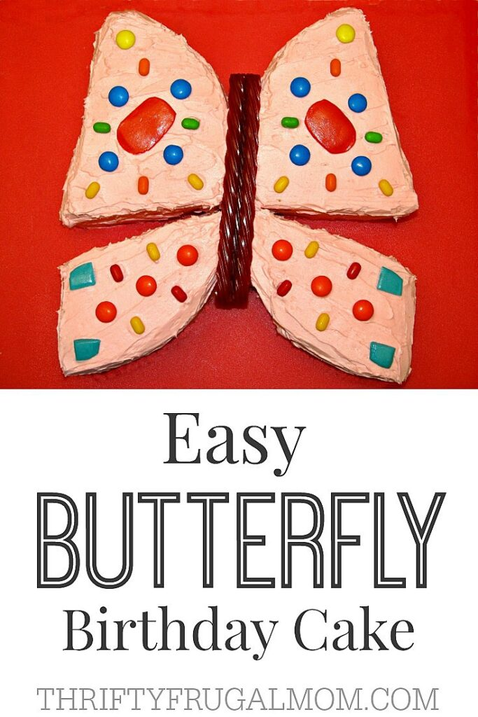 Easy Butterfly Birthday Cake- a cake kids love
