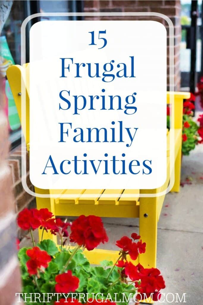 15 Frugal Family Activities for Spring- such a fun list! And I love the free printable bucket list that's included.