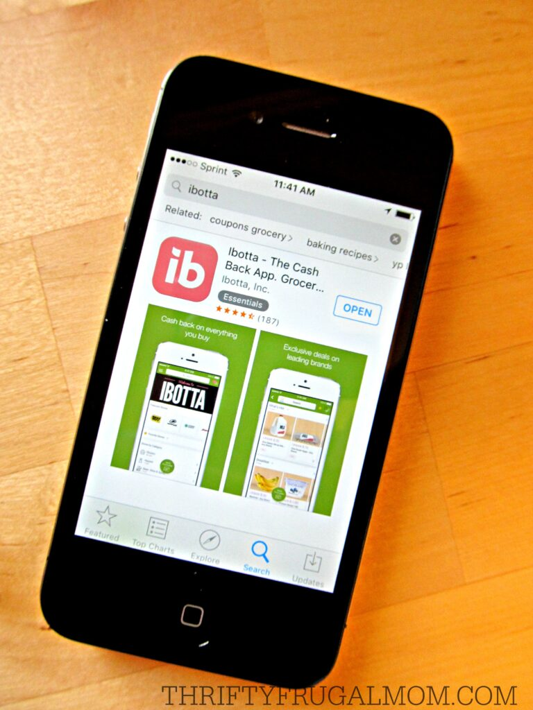 Ibotta app- save money on groceries