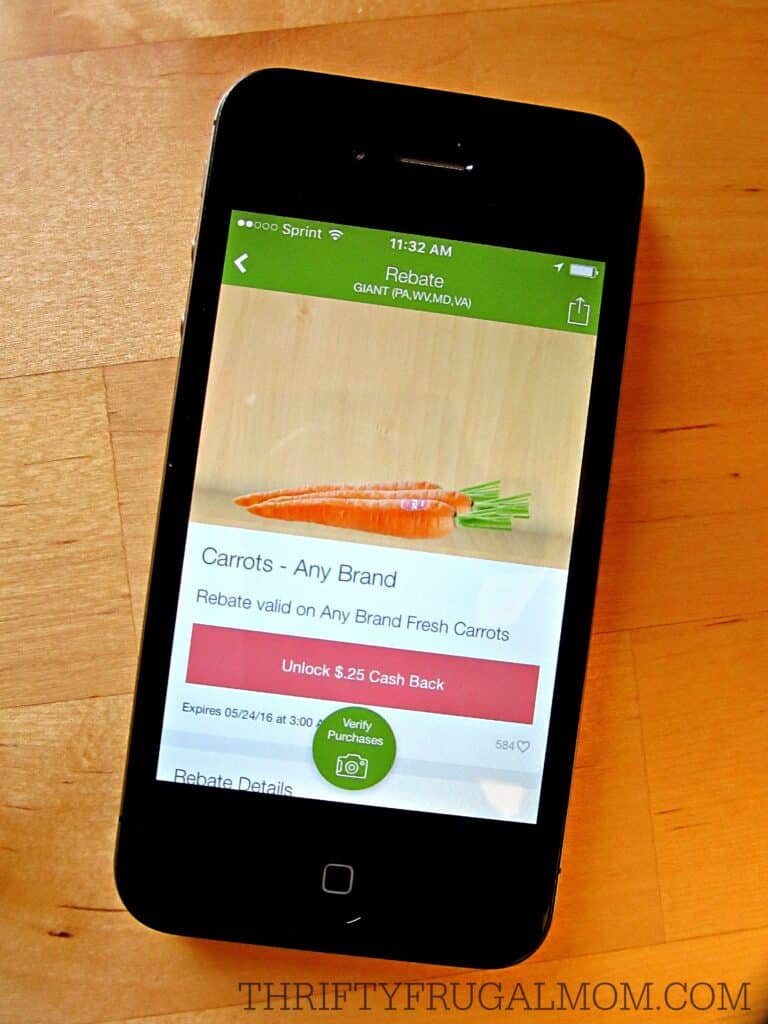 Ibotta app (unlock)- save money on groceries