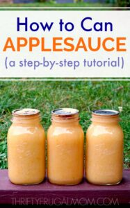 How to Can Applesauce (a step-by-step photo tutorial)