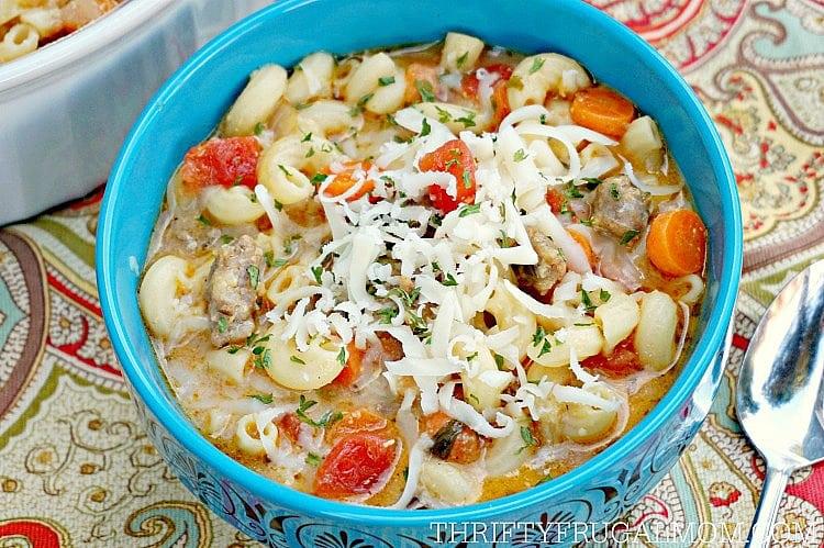 Favorite Soup- Creamy Italian Sausage & Pasta Soup