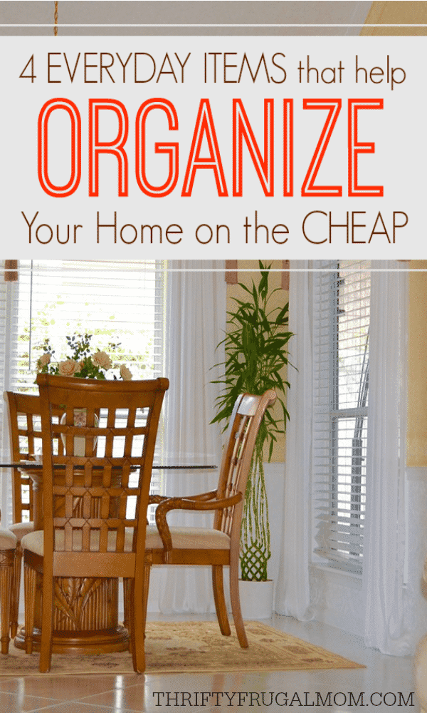 home organization on a budget