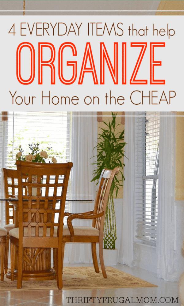 home organization on a budget