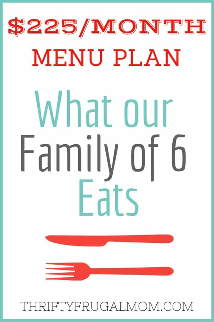 menu plan on a budget